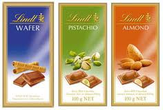 2 bars Lindt chocolate